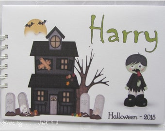 Personalised Halloween / Guest Book/ photobook/ photo album / Scrapbook Memory Album