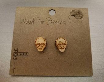 Bernie Sanders - Laser cut wood stud earrings