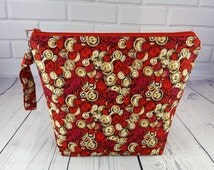 Buttons cosmetic bag Makeup bag Yarn project bag Toiletry bag Knitting pouch Zipper cosmetic bag Yarn tote bag Gadget bag Lunch bag
