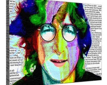 John Lennon picture, John Lennon image, John Lennon, Rock music, John Lennon portrait, Beatles, John Lennon print, Printing on canvas Lennon