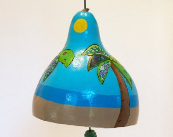 Palm Tree Gourd Wind Chime