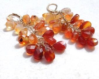 Carnelian Earrings--Carnelian Jewelry