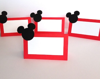 10 Mickey Mouse Place Cards - Mickey Mouse Birthday Party - Mickey Mouse Party Decorations - Mickey Mouse Baby Shower -Mickey Mouse