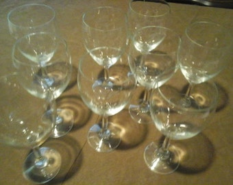 set of 9 wine glasses