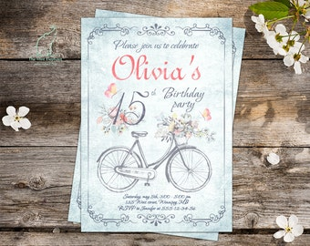 Rustic Invitation Etsy - Sample birthday invitation in french
