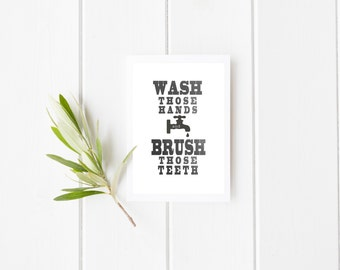 Farmhouse Bathroom Print