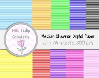 A4 Clip Art Backgrounds- Colored stripes x 10