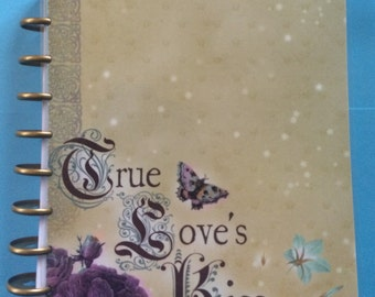 The Happy Planner Cover Dual Sided Back and Front Laminated and Hole Punched to fit w/ Rings Purple