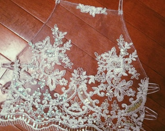 White Lace Halter Festival Crop Top with Sequins
