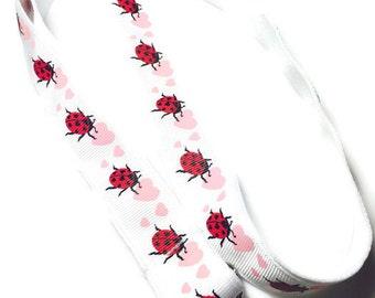 Ladybug Lanyard - Retractable Badge Reel Holder - ID Holder - I Lodve Lady Bugs Lanyard - Teacher Gift
