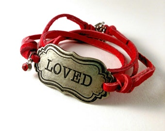 Wrap Leather Bracelet - Loved