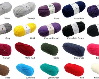 King Cole Big Value Double Knit 100g Wool Yarn Ball *20 Colours*