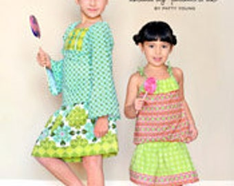 ModKid - Nina - Paper Sewing Pattern for Girl's Peasant top and Skirt