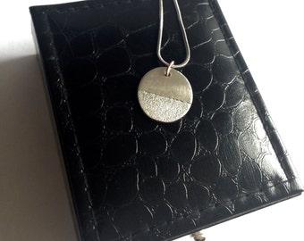 Fine Silver Round Textured Pendant