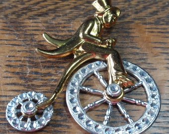 Vintage Big Wheel Colombia Bicycle Brooch