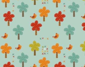 Riley Blake Designs Fabric By the Yard Giraffe Crossing by The RBD Designers 100% cotton C2851 Teal Trees 1/4 yard 1/2 yard