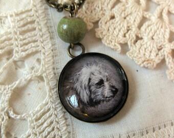Dandie Dinmont pendant necklace