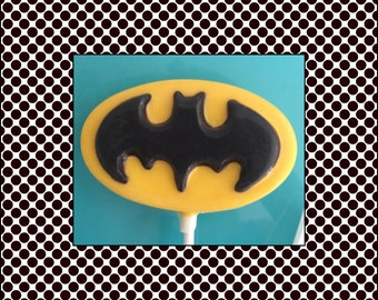 Batman Chocolate Lollipops