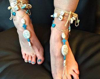 """Barefoot sandals """"A little bit holy"""""""