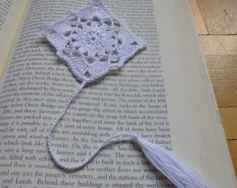 Handmade Crochet Bookmark White Kite