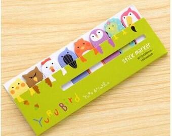 Yuru Bird Sticky Notes / Yuru Animal Sticky Notes / Office Supplies / Bookmark Page / Kawaii Stationary / Index Tab / Cute Stationary / Cute