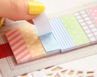 Kawaii Sticky Notes / Cute Stationary / Office Supplies / Masking Sticky Notes / Colorful Sticky Notes / Stationery / Lovely Sticky Notes