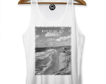 Watergate Bay Cornwall Vest Surf Men Singlet Sleeveless Tank Famous Surfing PP114
