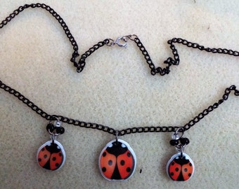 Cute ladybug chain necklace