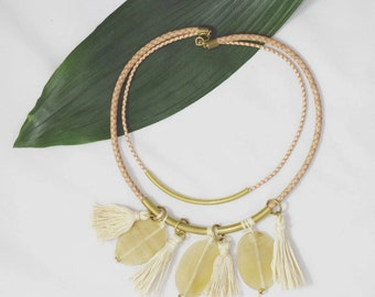 Two Layer Leather Cord Necklace
