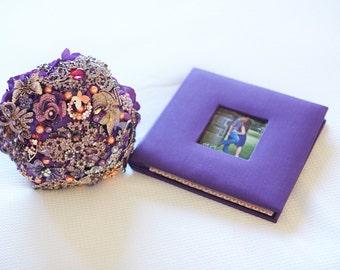 Purple Orange Brooch bouquet