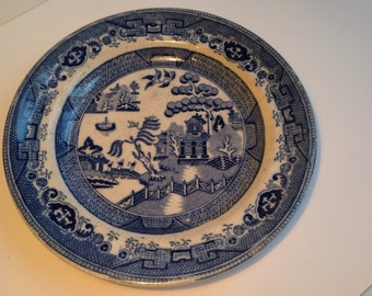 Early willow pattern plate