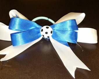 Stacked Soccer Hair Bows