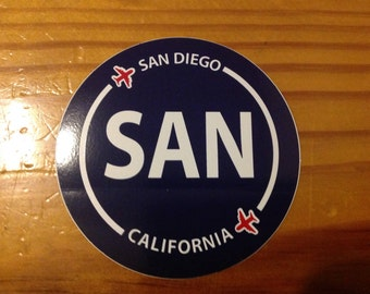 San Diego SAN California Souvenir Airport Sticker
