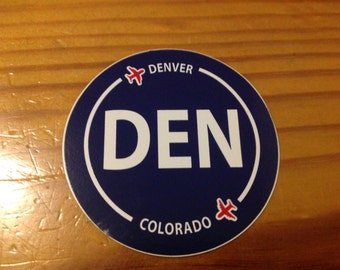Denver DEN Colorado Souvenir Airport Sticker