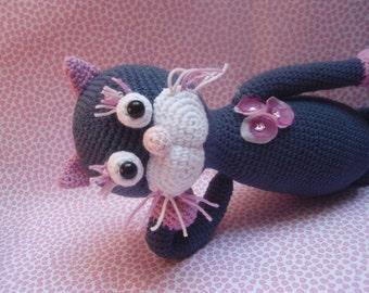 CROCHET PATTERN - amigurumi pattern, crochet cat - Miss Daisy - stuffed toy, kitty, diy, instant download, PDF
