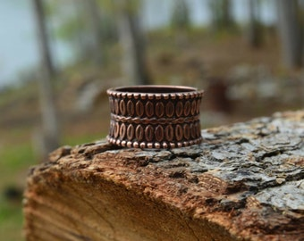 Copper Band Ring -Size 7