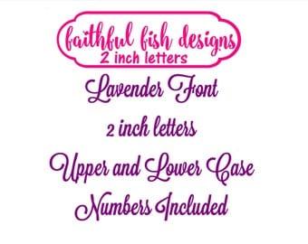 Lavender Curly Monogram Set- Machine Embroidery Font Alphabet Letters - Script Font - Girl Font - Wedding Font - Instant Download design