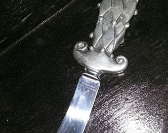 20th Century Arts & Crafts Abodemode Fine Pewter Serving Knife Made by Sheffield in England