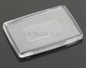 Premium Quality Clear Acrylic Blank Fridge Magnets 66 x 44 mm | Large Photo