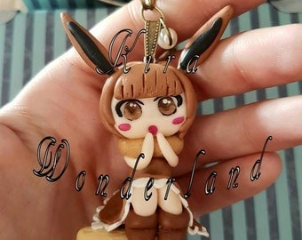 Necklace humanized Eevee (pokemon, eeveelution)