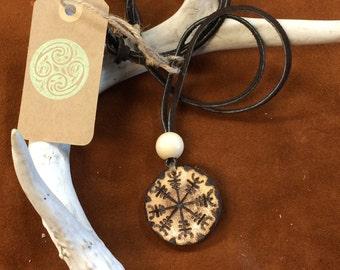 Aegishjalmur Carved Necklace