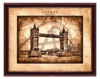 London Printable Art,Wall Decor,London Cityscape,London Digital Print,Printable Wall Art, Vintage style,Instant Download,
