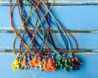 Ninja mini figure necklaces - party pack!