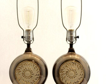 Set of Two Vintage Authentic 1920's Lamps