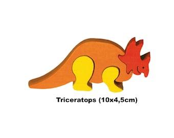 Mini Puzzle Dino Triceratops / Handmade / Animals / Wooden toys / Dino / Waldorf / Montessori