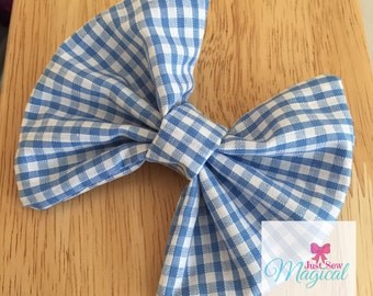 Blue Gingham Bow