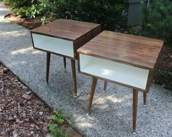 Handmade Mid Century Modern End Table 2-Tone FREE SHIPPING