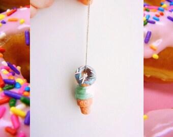 sweet summer ice cream/ donut charm || jewelry