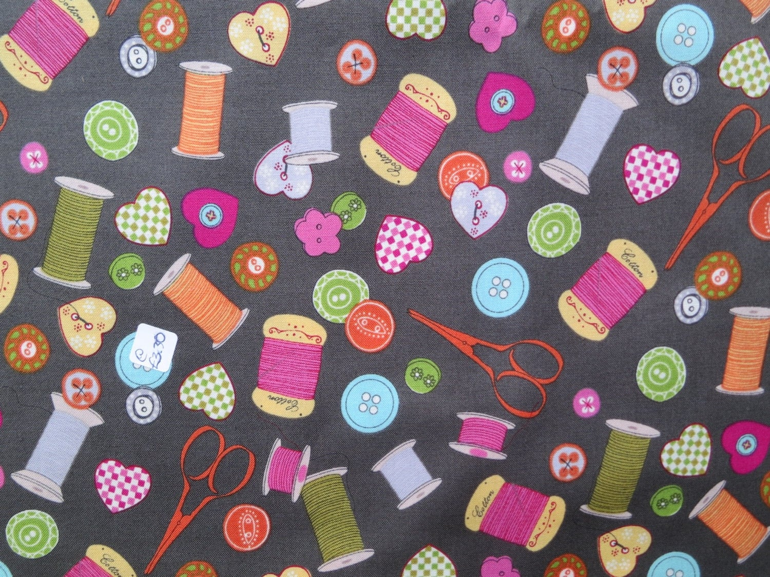 sewing theme fabric retro sewing notions fabric quilting