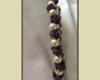 purple and cream headband